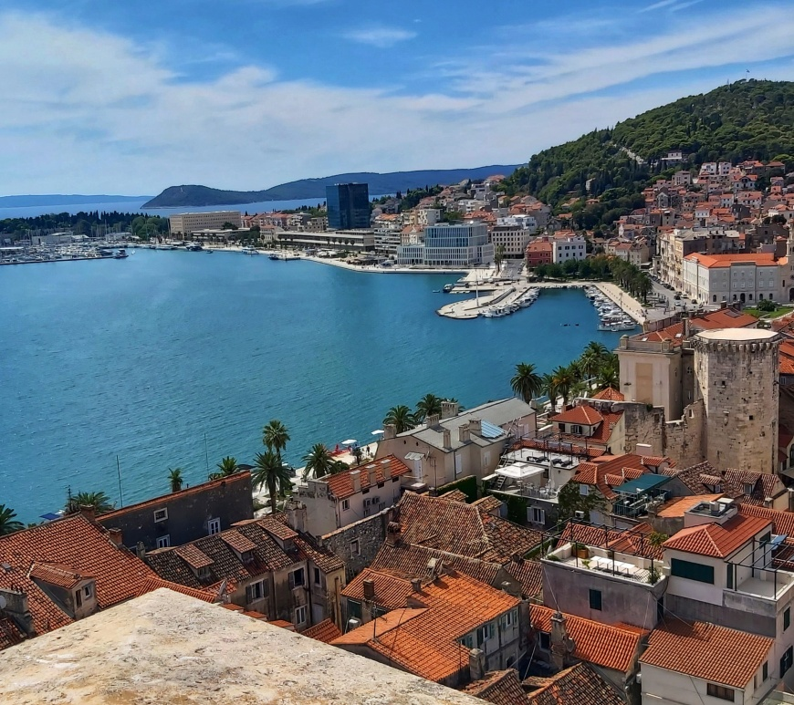 View from the tower of Diocletian's Palace in Split, Croatia
