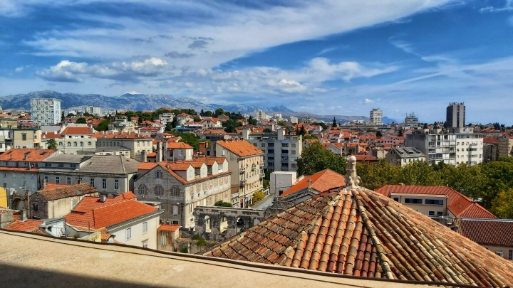 View from tower of Diocletian's Palace in Split, Croatia
