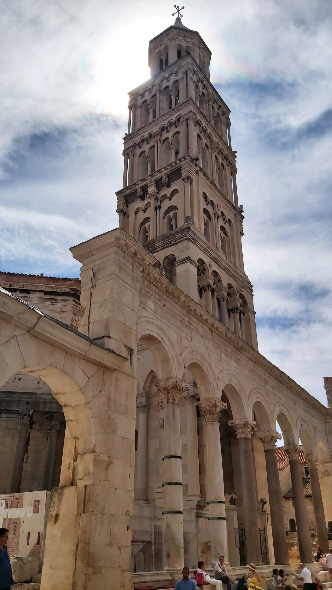 The tower of the cathedral of Diocletian's Palace in Split, Croatia