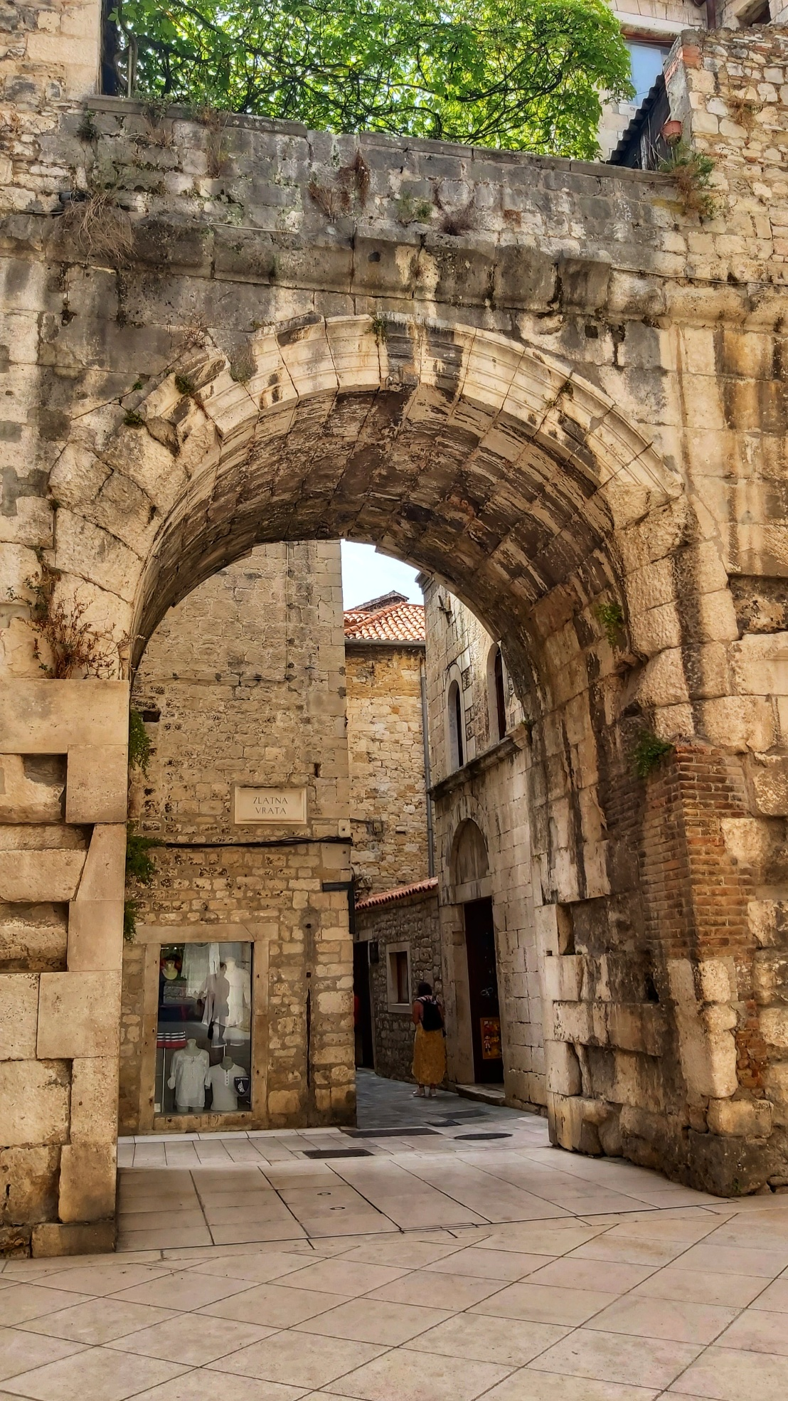 A gate to Diocletian's Palace in Split, Croatia