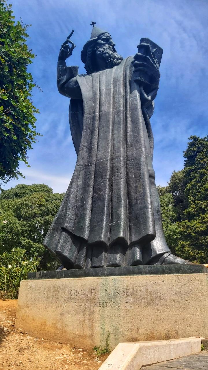 The statue of Grgur Ninski in Split, Croatia