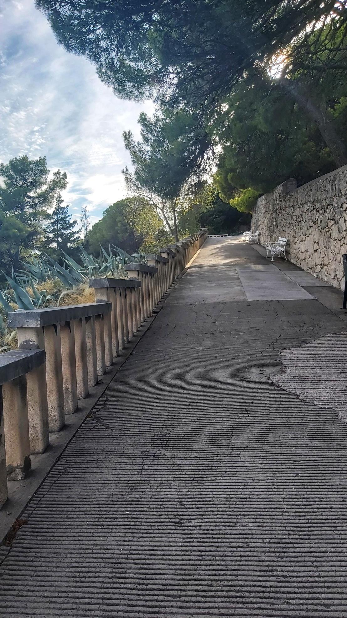 A pathway in Park Suma Marjan in Split, Croatia