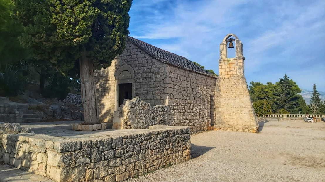 13th century church in Park Suma Marjan in Split, Croatia
