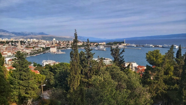 The view from Park Suma Marjan in Split, Croatia