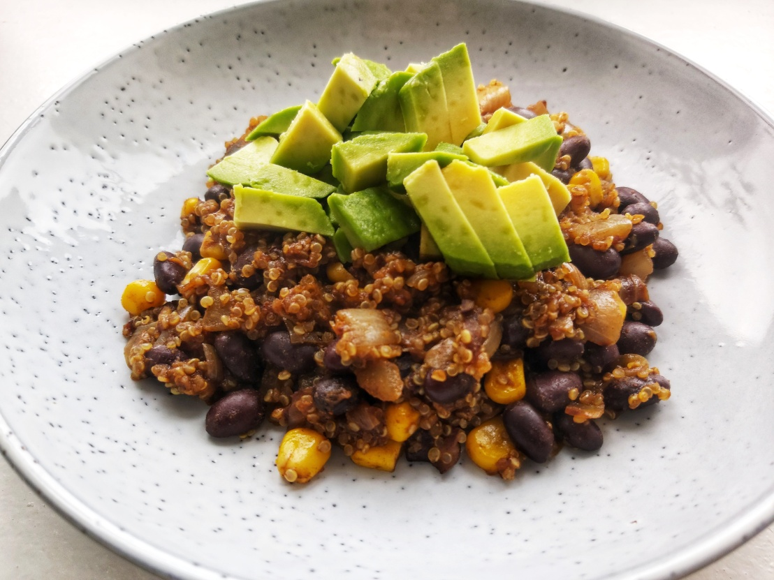 Vegan Black Beans And Avocado Quinoa