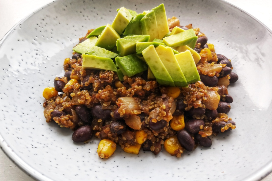 Vegan Black Beans and AvocadoQuinoa
