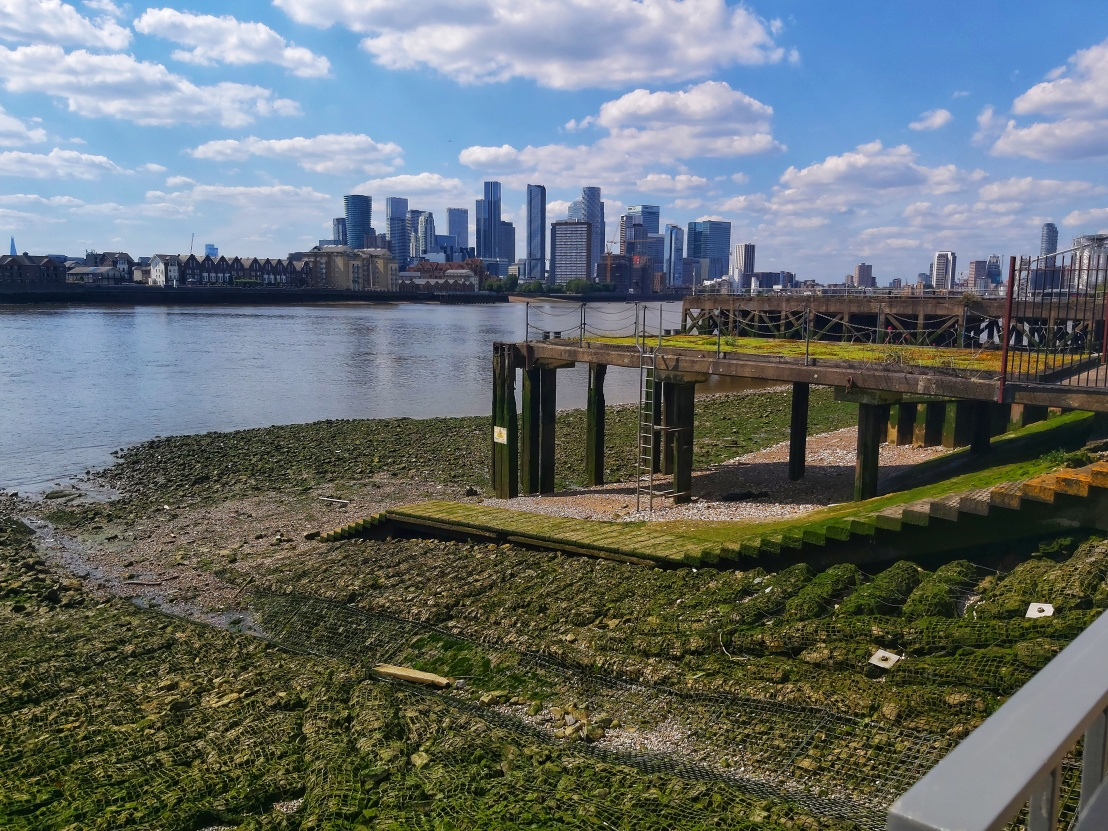 Thames Bank and Old Pier in Greenwich