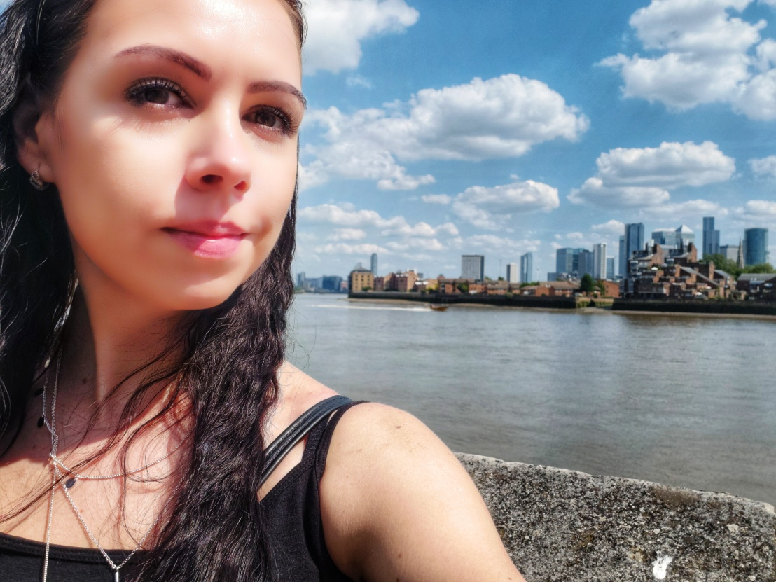Selfie by the Thames in Greenwich