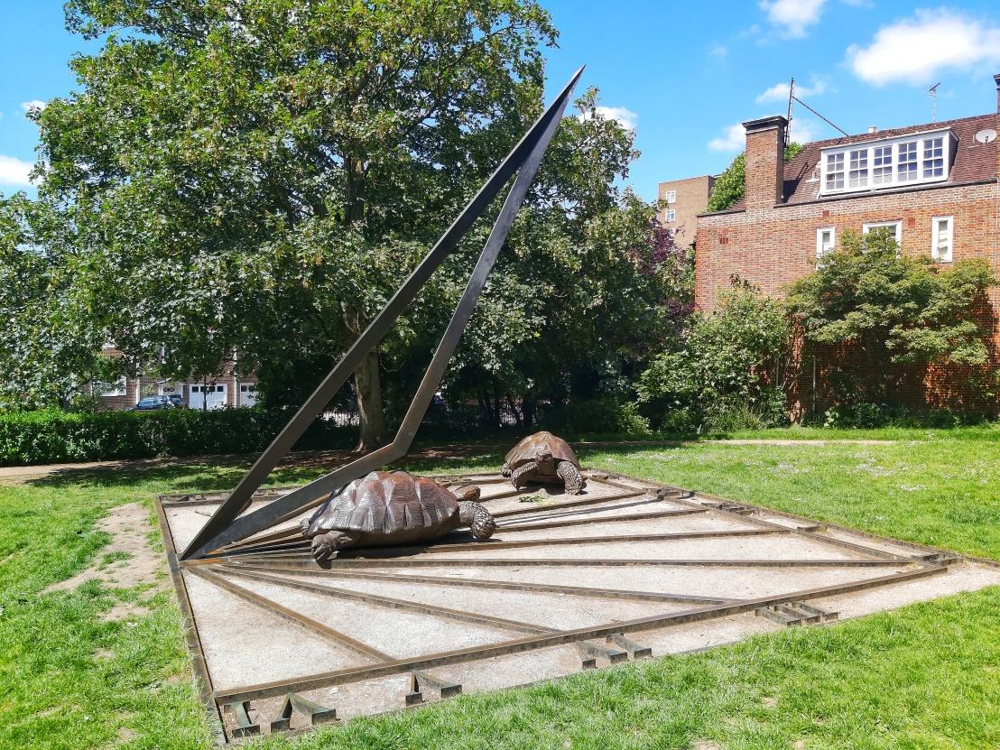 Holland Park Tortoise Sundial