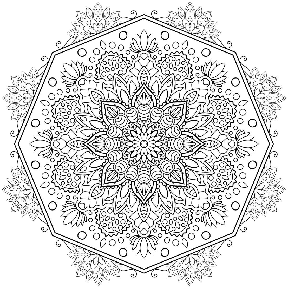 Octagonal Mandala Colouring Page