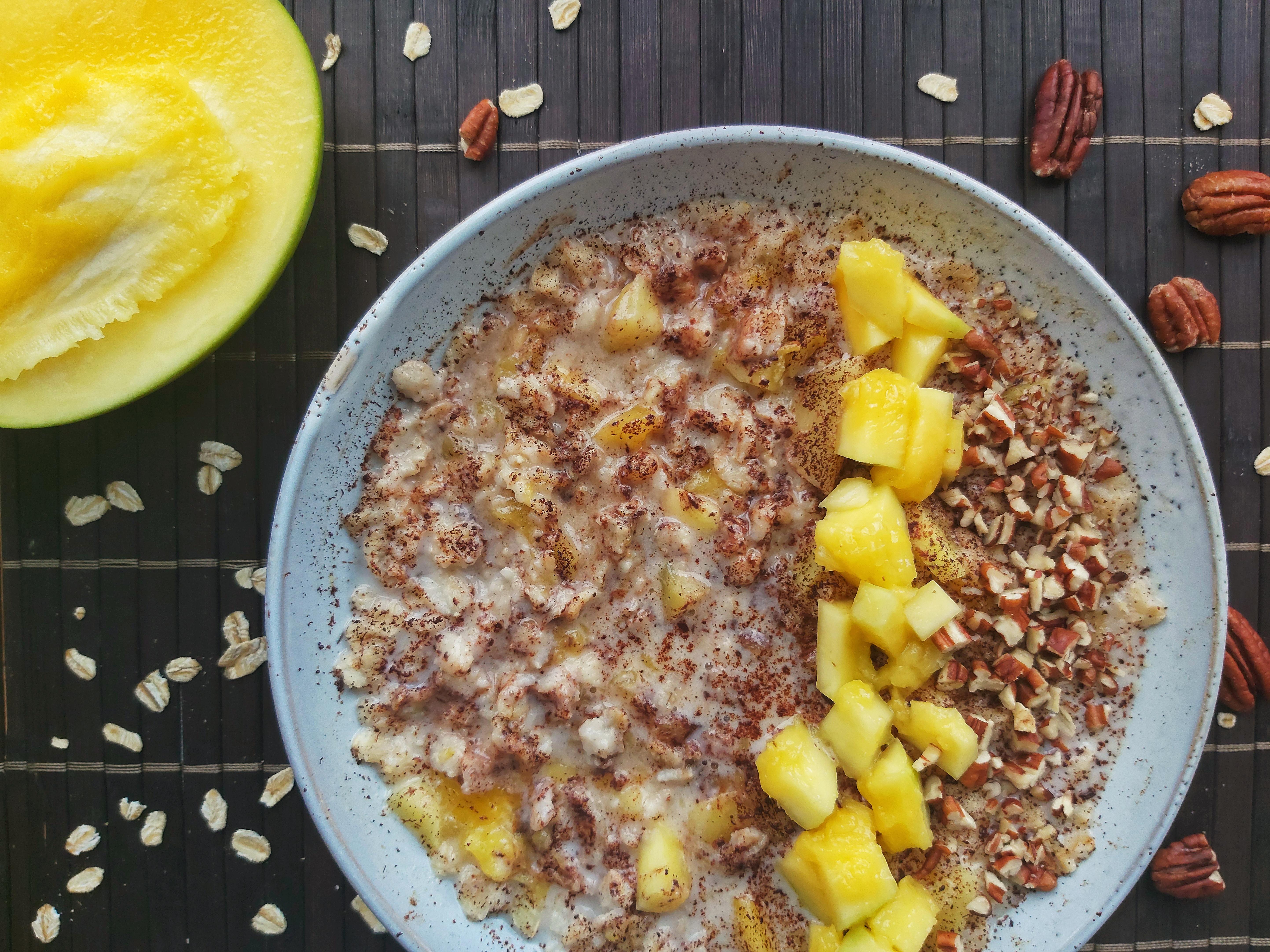 Mango Pecan Nut Porridge