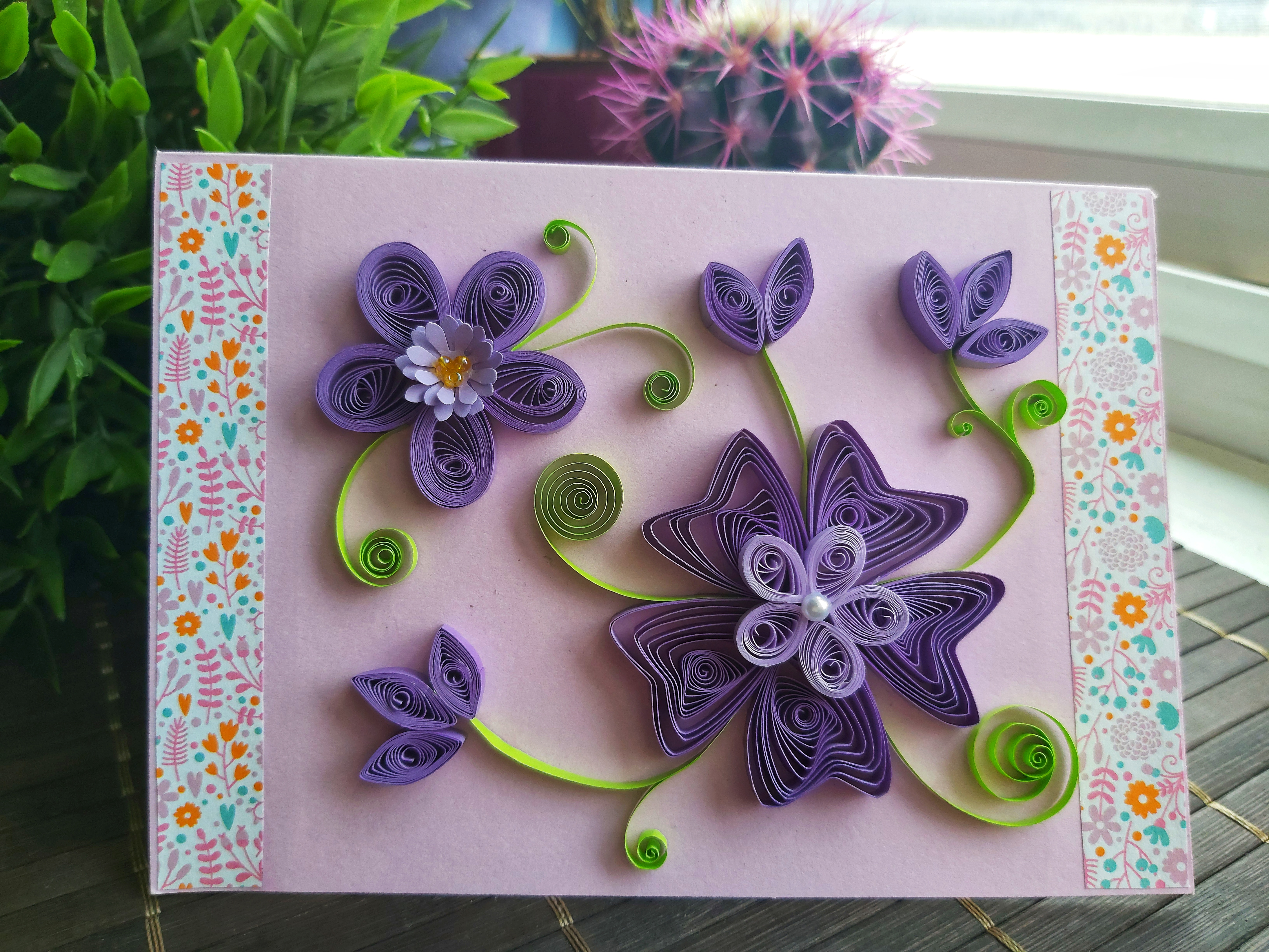 Scrapbooking Quilling Birthday Card